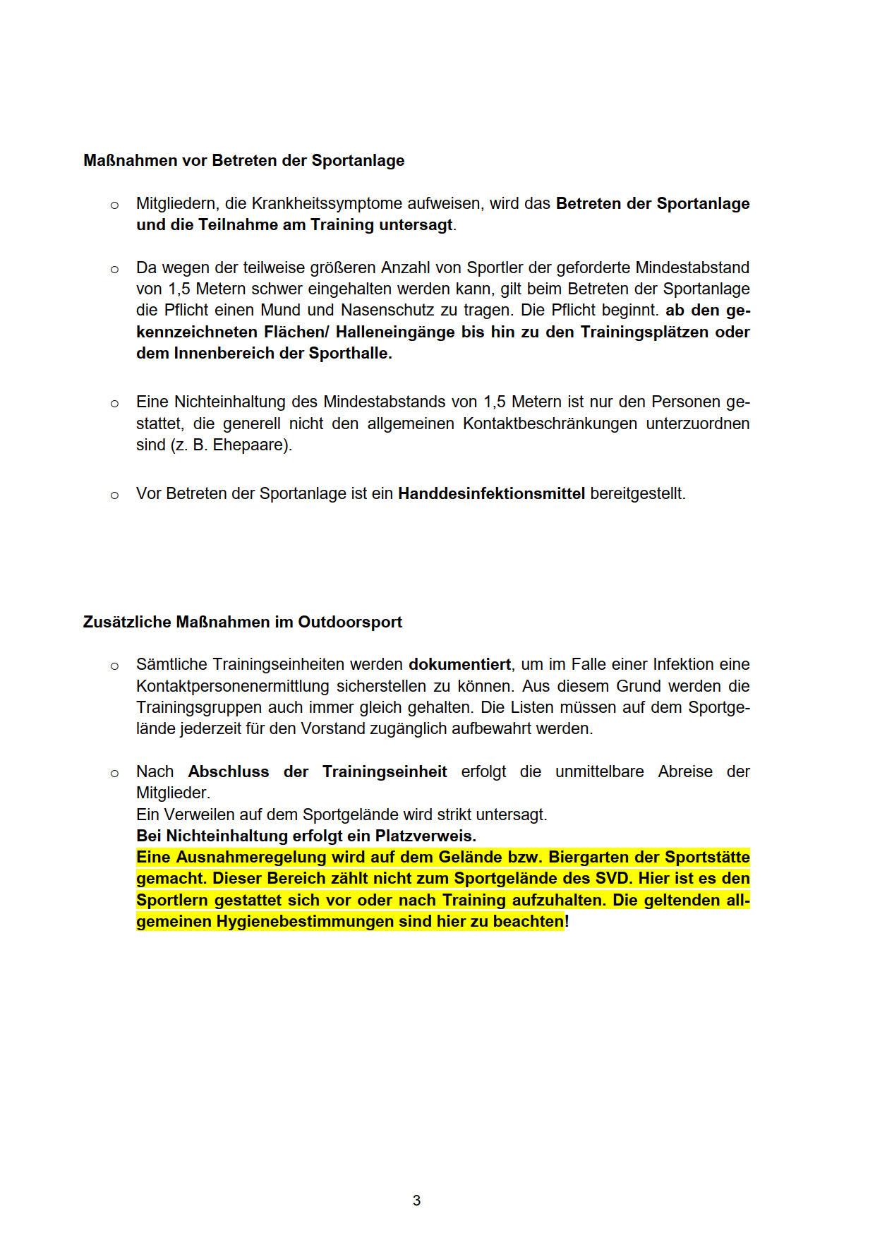 Hygieneschutzkonzept SVD 29
